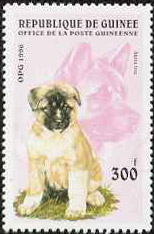 Akita stamp